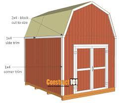 10x12 shed plans gambrel shed corner trim side trim