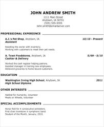 40 Teenage Resume Templates PDF DOC Free Premium Templates Awesome Teenage Resume