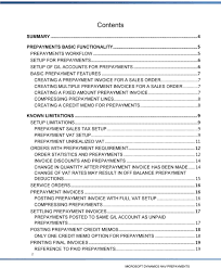 microsoft dynamics nav prepayments white paper date pdf 8 creating a credit memo for prepayments 8 known limitations