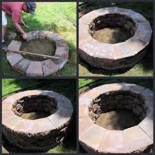 elegant round brick fire pit homeroad building a fire pit