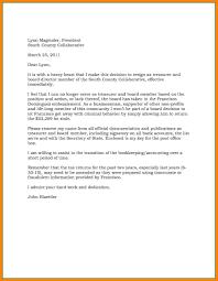 Board Directors Resignation Letter Example