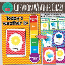 Weather Color Chart Chevron Weather Chart