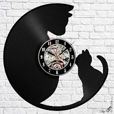 large office wall clocks. Exellent Clocks Cat Mom And Son Sweet Vinyl Wall Clock Modern Home Decor Fashion Room  Decoration Art Size 12 Inches Color Black Large Office Clocks  Intended E