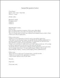 Template Of Resignation Letter Examples Metabots Co