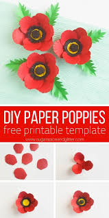 Make A Paper Poppy Flower Make Your Own Paper Poppies For Remembrance Day Poppy