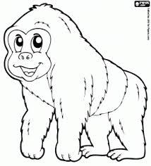 Gorilla Kleurplaat Kita Monkey Coloring Pages Monkey Und