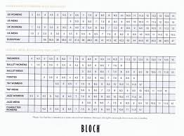 Size Info Bloch Chart Sizes Bloch Shoe Sizes 4 Dance