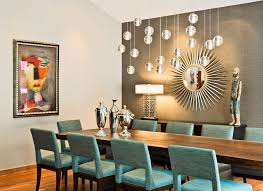 living room accent wall elegant hanging chandelier railing back dining chairs black wooden laminate flooring brown wood dining chairs brown high gloss wood
