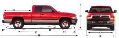 2001 Dodge Ram Pickup Dimensions