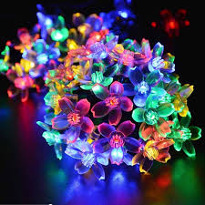 solar fairy holiday string lights 21ft 50 led multi color gardens christmas trees lights
