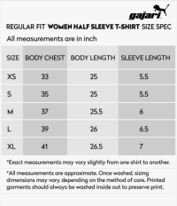 India Us Shirt Size Chart