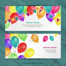 Invitaciones De Cumpleaños Descargar Vectores Gratis