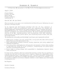 Human Resource Application Letter Human Resources Information Systems HRIS Cover Letter 1