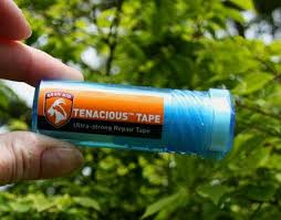 Tenacious Tape by McNett works great for outerwear