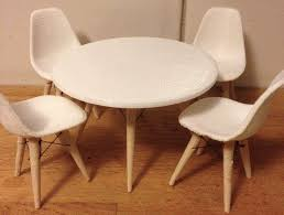 barbie furniture patterns. Barbie Furniture Diy. Image Of Diy Accessories: Eames Table And Chairs Patterns