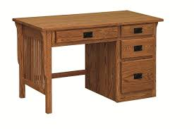 amish handcrafted arts and crafts knee hole desk