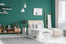 interior painting green wall
