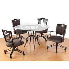 club chairs dining for tables with regard to chair casters in on decorations 17