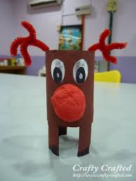 CraftyCraftedcom » Blog Archive  Crafts For Children » Toilet Christmas Crafts Made With Toilet Paper Rolls