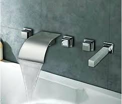 waterfall tub filler excellent 5 faucet decorative kitchen cabinet hardware handle within wall mount with hand
