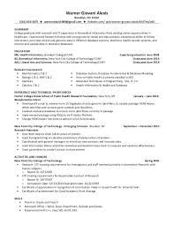 Health Informatics Specialist Sample Resume