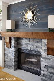 wood mantel for fireplace in modern way