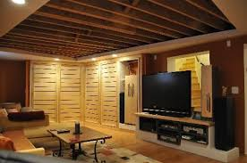 finished basement ceiling ideas. Delighful Finished Finished Basement Ceiling Ideas New At Impressive Subreader Co Cozy With A