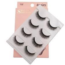 <b>SHIDISHANGPIN 4 pairs mink</b> eyelashes false lashes mink 3d fake ...