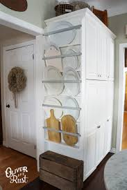 Plate Storage Rack Kitchen Plate Rack Kitchen Diy What A Great Idea For Storing Large