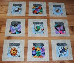 35 best I Spy Jar Quilts and More images on Pinterest | Carpets ... & Set of 9 Creepy Bugs in a Jar Quilt Blocks by MarsyesQuiltShop Adamdwight.com