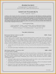 Teacher Resume Example Beautiful Resume For Teacher Elegant Teaching