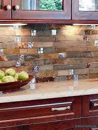 brown rusty and gray color mix unique slate kitchen backsplash tile awesome design best of 5