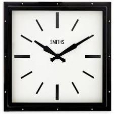 smiths square black wall clock 41cm