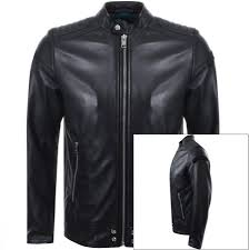 image for sel l shiro leather jacket black