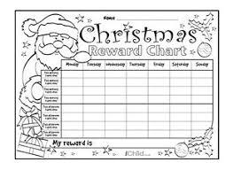 Download Reward Chart Download And Print This Special Christmas Reward Chart