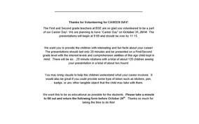 letter for volunteers career day letter to volunteers