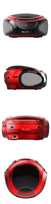 Small Cd Player For Bedroom Portable Stereos Boomboxes Cd Bluetooth Boombox Red Stereo