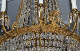 chandelier french charles x style bronze d 039 ore and cut crystal chandelier