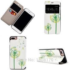 erfly flower wallet leather case for iphone 7 plus open window caller display love pouch stand card hard flip cover 100pcs in wallet cases from