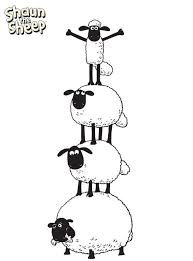 Kleurplaat Shaun Stack Kids N Fun Concept Art Sheep Drawing