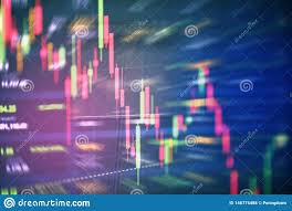 Stock Crisis Red Price Drop Down Chart Fall Stock Market