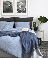 linen duvet cover sky blue color soft linen seamless stonewashed pure linen quilt cover twin queen king size comforter cover