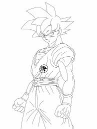 Dragon Ball Z Coloring Pages Goku Super Saiyan God L