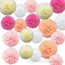 Tissue Paper Flower Decorations Tissue Paper Pom Poms Flower Balls For Birthday Wedding Party Baby