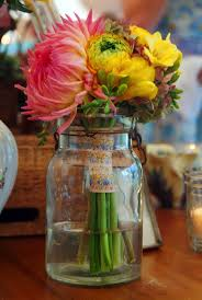 We will have all different sizes of mason jars (and including some clear  pop bottles