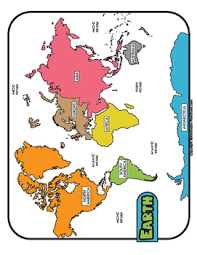 World Maps Color Black And White Blank