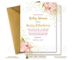 Baby Shower Invitation Backgrounds Free Mesmerizing GLITTER ROSES BABY Shower Invitation Printable Invite Gold Glitter