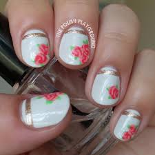 The Polish Playground: Vintage Rose Tea Cup Inspired Nail Art