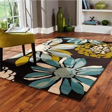 indoor teal ivory area rug com rugs 3x5