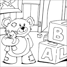 Small Picture Teddy Bear Colouring